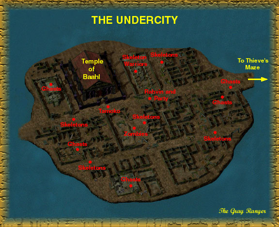 The Gate House Baldurs Gate 39 s Undercity Map